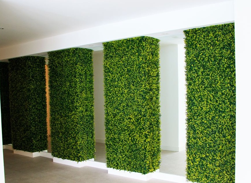 Aplicación de jardín vertical de Hoja de Té